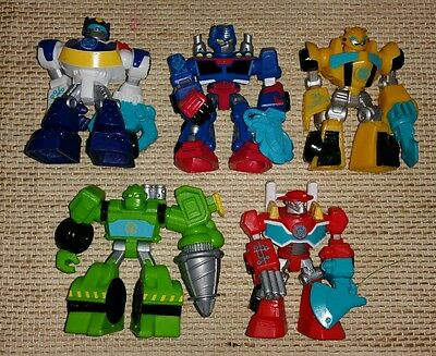 Lot of PLAYSKOOL SUPER HEROES RESCUE BOTS TRANSFORMERS ACTION FIGURE