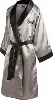 New Everlast Stock Satin Boxing Full Length Robe Size: Small Color: Silver