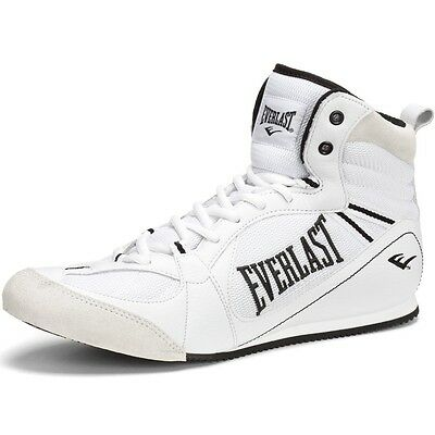 NEW Men's Everlast Low-Top Leather Boxing Shoes Size: 11.5 Color: White