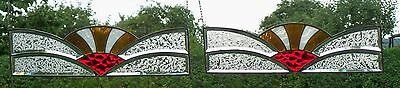 Stained Glass Leaded 2 St.Window Image Screening brisevue Original Art Deco