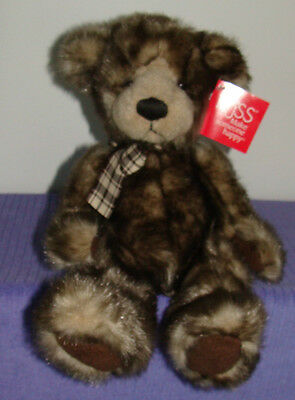"Russ Cappuccino Bear 14"" Tall 4312 New With Tags ~ Do"