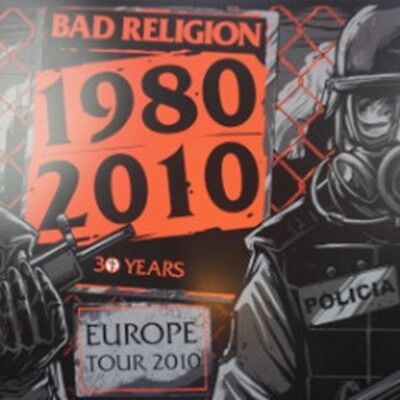 Bad Religion - 2010 Munk One poster Europe Tour 30 years