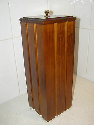 New Spare Toilet Paper/roll,  Holder/ Storage Container, Solid Timber/wooden
