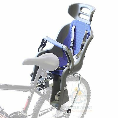 """Safety Bicycle Baby Childs Kids Seat Carrier Rear Mount Rack 24 26 27"""" 700C 1827"""