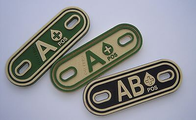 Blood type PVC patch / boot tag
