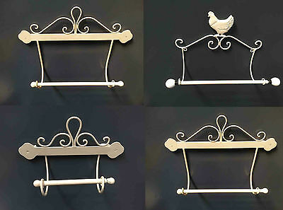 Shabby Chic Cream Metal County kitchen Roll Holder Toilet Roll Holder