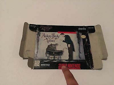 The Addams Family Values  [Box Only] Super Nintendo - Snes - ORIGINAL -No Tray