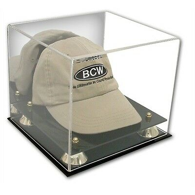 Baseball Cap and Hat Display Case with Mirror Back