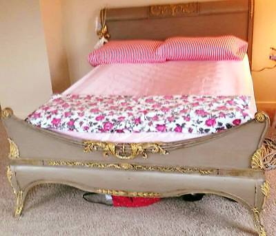 Beautiful Antique French Louis XV  style Elegant bed, Piece of Art  rarity
