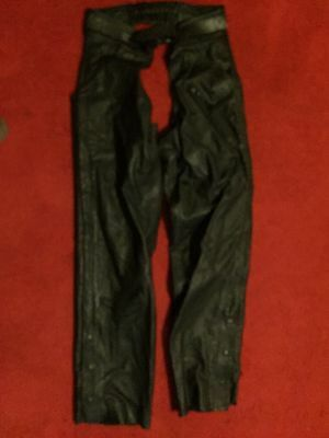 Harley Davidson Large Leather Riding Chaps Hd Sportster Wide Glide Fat Boy