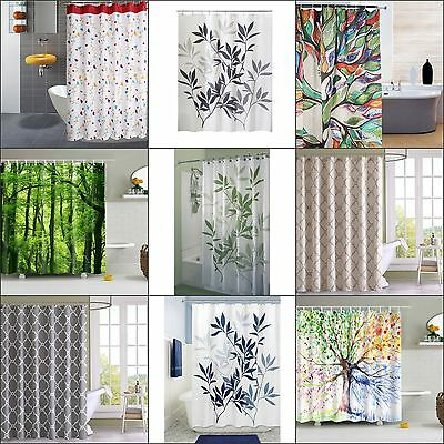 Bathroom Curtain Fabric Shower Curtains Waterproof Curtains With Hooks Colors