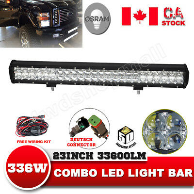 23'' Inch 5D LED Light Bar Flood Spot Combo Osram Off road 4WD JEEP TRUCK