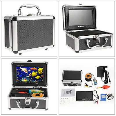 """7"""" Color HD Monitor 30M Fish Finder Underwater Fishing Video Camera Professional"""