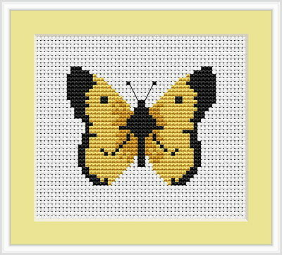 Butterfly Cross Stitch Kit By Luca S 14 Count Ideal for Beginner