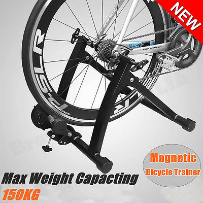 Magnetic Bike Bicycle Cycle Turbo Trainer Stand Indoor Exercise Training Fitness