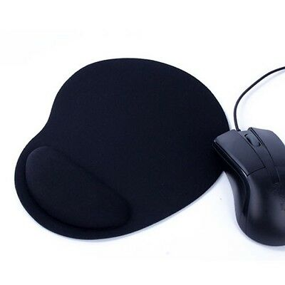 Mouse Mat Mice Pad Durable Soft Support Wrist Comfortable Ultra-Thin Black UK