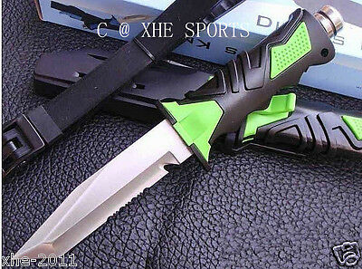 Scuba Diving Camping Hunting Fishing High Quality Dive Knife Green Tanto