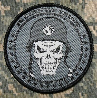 In Guns We Trust Usa 2Nd Amendment Army Morale Tactical Acu Dark Op Hook Patch