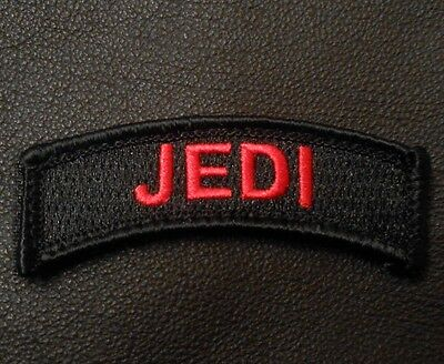 Jedi Army Tab Rocker Tactical Morale Military Infidel Black Ops Red Hook Patch