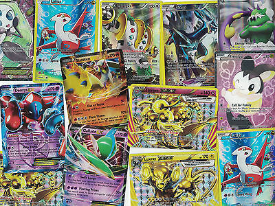 Lot of 5 Pokemon Cards: 1 guaranteed EX or Ultra Rare, the rest are holos!