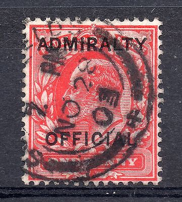 GB = Town/Village cancel - E7, `S(OUTH SHIEL)DS` Admiralty Official SG O.102