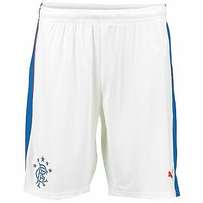 Puma Mens Gents Football Soccer Glasgow Rangers Home Shorts Bottoms 2016-17