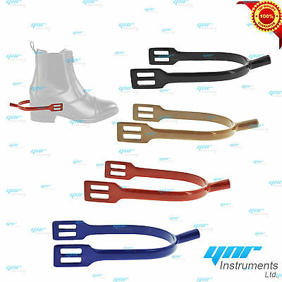 YNR Horse Riding Spur Rider Metal Blunt Rounded End Spurs Steel NEW