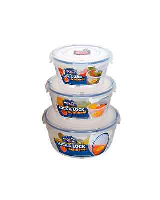 Lock & Lock Food Storage Container - 3 Bowl Nestable Set