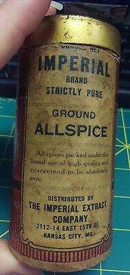 Imperial Brand Ground Allspice - The Imperial Extract Company - Allspice tin