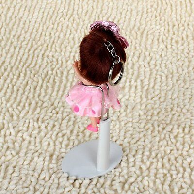 White Adjustable Doll stand 5.5 - 7.8 inches/ 14 - 20 cm CP