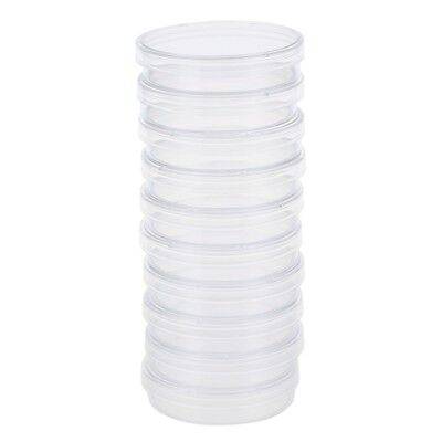 10 pcs 60mm x 15mm polystyrene sterilized Petri dishes with lids Clear CP
