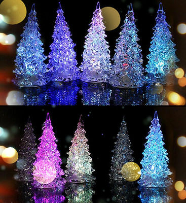 LED Lamp Light Crystal Decoration Home Party Gift Decor Xmas Christmas Tree new!
