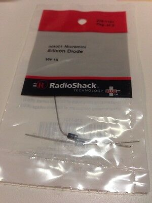 1N4001 • Micromini Silicon Diode #276-1101 By RadioShack