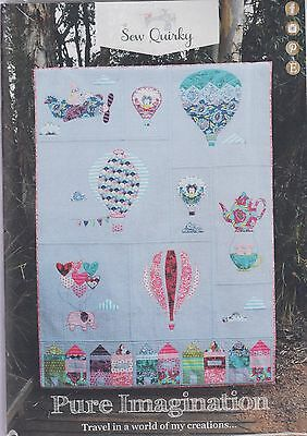 CLEARANCE - Pure Imagination - fun pieced & applique quilt PATTERN - Sew Quirky