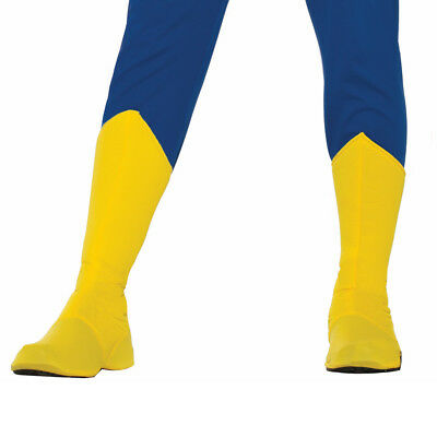 Adult Superhero Shoe Covers Boot Tops Yellow Unisex Costume Accessory MED
