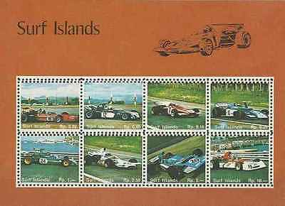 Timbres Sports Voitures Formule 1 Surf Islands Lot A ** (14955)