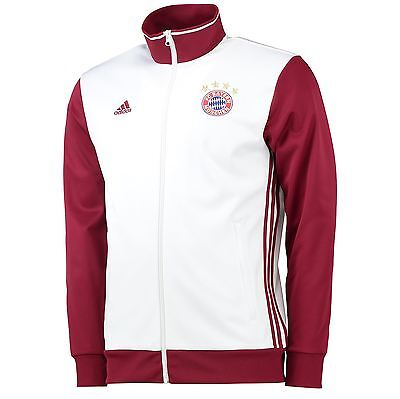 adidas Mens Gents Football Soccer Bayern Munich Core Track Top - White