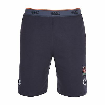 Canterbury Mens Gents England Rugby Fleece Shorts Bottoms Pants  - Graphite