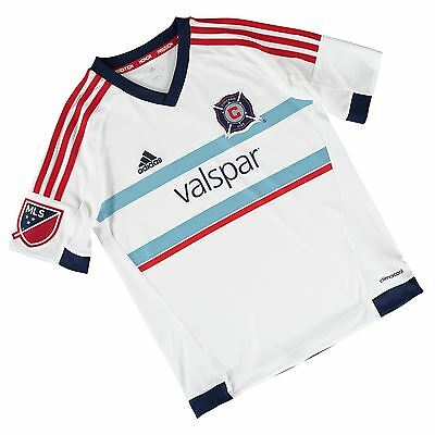 adidas Childrens Kids Football Soccer Chicago Fire Away Shirt Jersey Top 2015-16