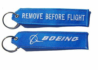 Boeing Remove Before Flight Key Ring Luggage Tag