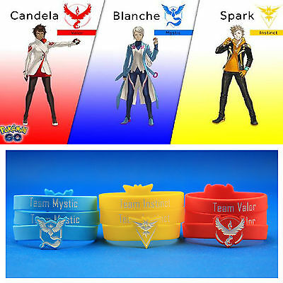 Pokemon Go Team Valor Mystic Instinct Cosplay Sports Wristband Unisex Bracelets