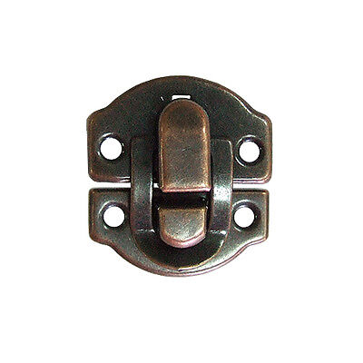 10 Pcs Bronze Iron Small Wood Case Chest Box Ball Catch Clasp Hasp Latch,YA006BR