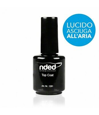 TOP COAT LUCIDO 15ml SMALTO SIGILLANTE UNGHIE SI PUO' USARE SOPRA GEL UV NDED 2