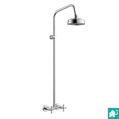 150mm Traditional Victorian Style Thermostatic Chrome Shower Valve Rigid Riser