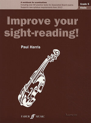 Improve Your Sight-Reading Violin Grade 5 Sheet Music Book Paul Harris Workbook