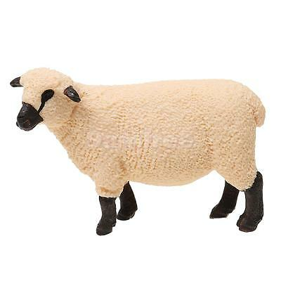 Realistic Shropshire Sheep Farm Yard Animal Model Figurine Toy Collectibles