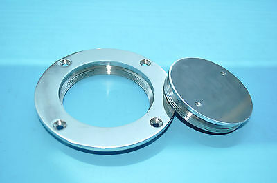 "Boat / Marine 3"" 316 Stainless Steel Deck Plate Serviceable"