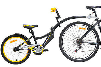 Pacific Tag A Long Child's Trailer Bike Black/yellow
