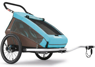 Croozer Kid Plus For 2 Bicycle Trailer 2017 Blue/Brown