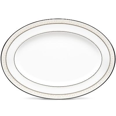 Noritake China Montvale Platinum 16 Inch Oval Serving Platter